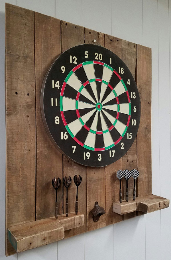 Dartboard set up