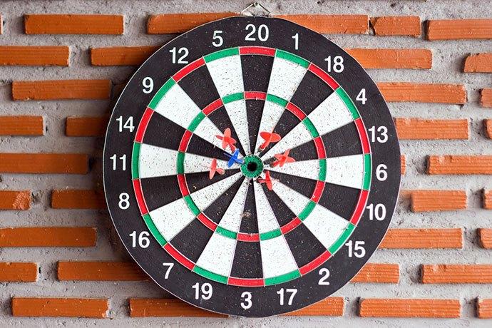 dart rules score