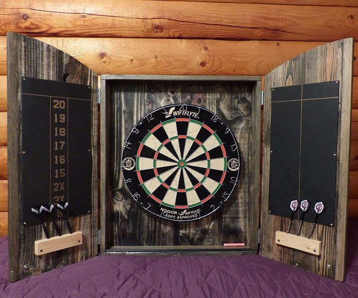 diy dartboard cabinet plans