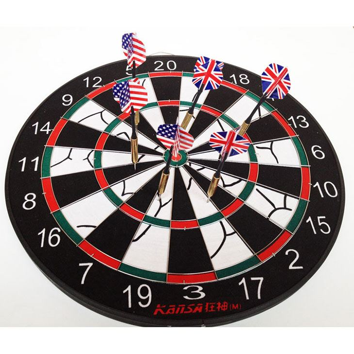 are the numbers on a dartboard random