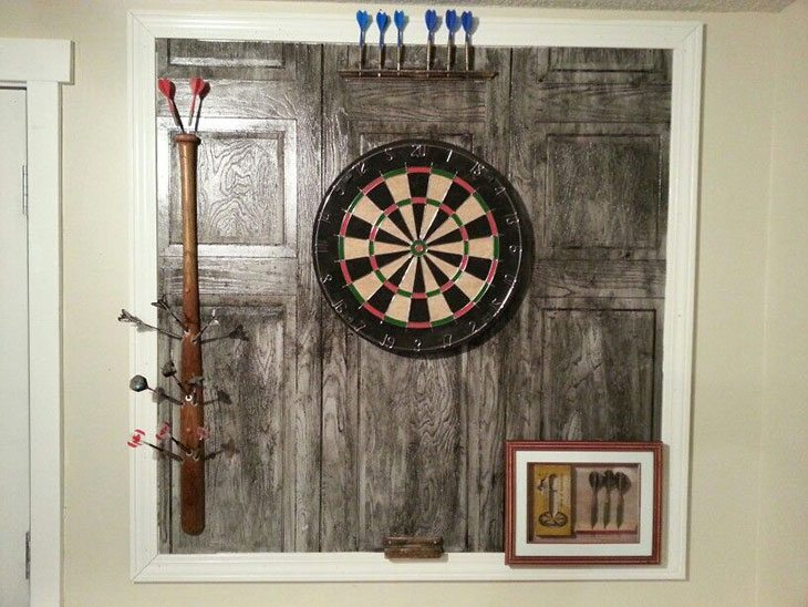diy wood dart board backboard