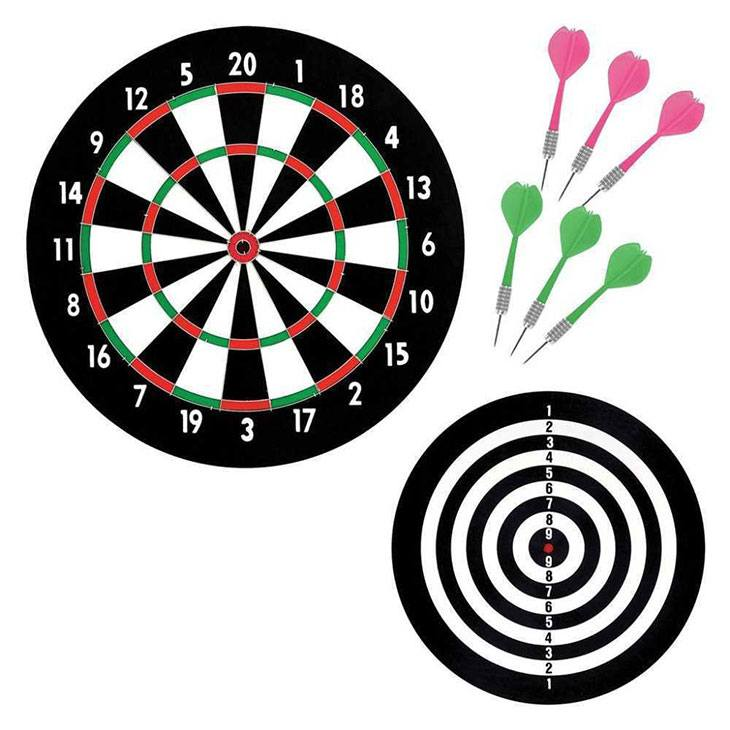 numbers around dartboard