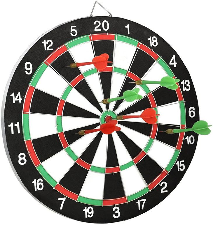 numbers on dartboard add up to