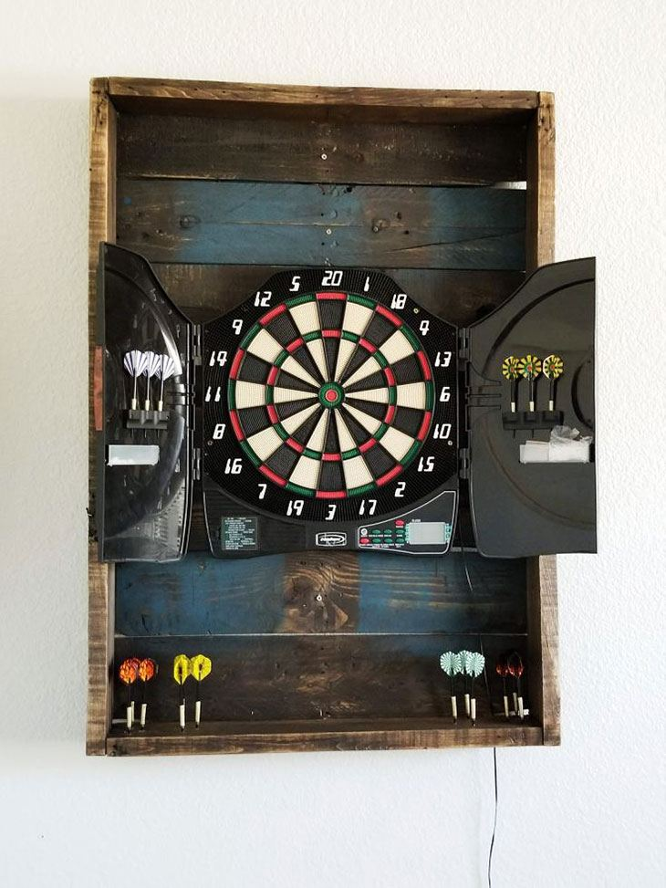 diy backboard for dartboard
