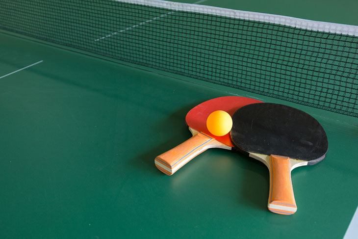 best ping pong paddle rubber for spin